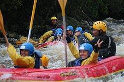 Trecho do Rio Paraibuna na Serra do Marem São Luiz do Paraitinga durante Expedição de rafting de 4 horas.