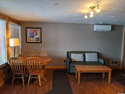 Dining and livingroom area of the Superior Lodge Suites