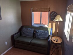 Living room/full size sleeper sofa in one of the Classic Cozy Cabins