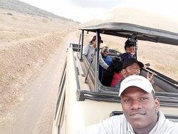 My friends and I enjoying a game drive in Lake Nakuru National Park