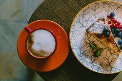 Włoska kawą i domowe ciasta