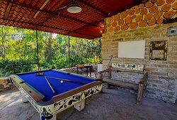 There's a nice pool table next to the stables for a quick game or three after your ride!