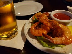 1/4 steamed shrimp; part of their Wed. night seafood special