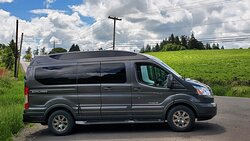 """This is """"Althea"""" - our luxury touring van."""