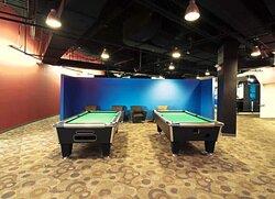 The billiards area at K1 Speed Buffalo Grove