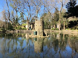 These charming old duck-houses sit in the middle of the lake at Pena Park, looking like small castles, complete with turrets.