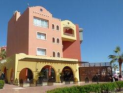 The Boutique Hotel is the first building on the popular Hurghada Marina yacht harbour.