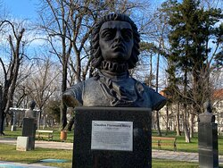 Count Claudius Florimund Mercy - the governor of Banat and Timisoara after 1716 ( Hero of the battle of Belgrade in 1717).  Statue on display in Central Park.