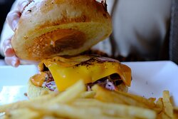 La Moo Moo's Pulled Pork Burger