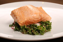 Southern Art's Olive Oil Poached Salmon