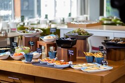 Range of hot and cold buffet iteams and individual dishes