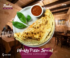Weekly Pizza Special: Calzone Capricciosa
