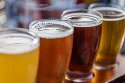A flight of our home brewed beers. Perfect way to sample a variety of beers.