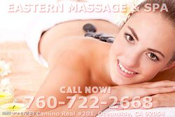 Eastern Massage Spa is an asian massage spa designed to help you reduce stress, relieve build up chronic pain, and increase the overall quality of your life! We specialize in multiple affordable, customized treatments to meet the needs of a wide variety of clients in a peaceful setting! We are proud to be providing Authentic Asian Massage therapy services in our beloved community of Oceanside, CA!