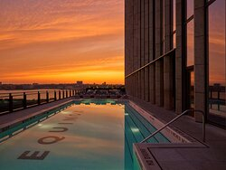 Outdoor Pool Sunset