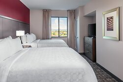 Our Double Queen beds are perfect for families and sports groups.