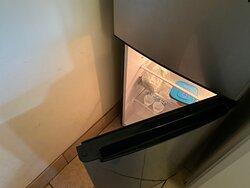 Very hard to access the little fridge.