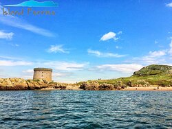 Beautiful Views of the beach and Martello Tower on Ireland's Eye