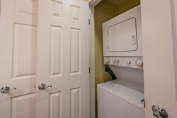 Washers and dryers are available in select units