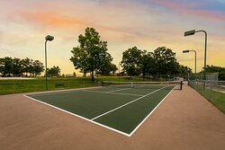 Try your hand at a game of tennis