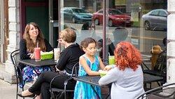 Turtle Leaf Cafe, just a few short blocks down Water Street.