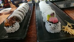 Beef and tuna rolls