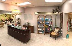 Salon & Spa reception desk
