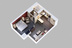 One Bedroom Suite Layout