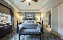 Lavish and luxurious master bedroom with king size bed