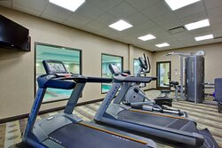 Keep up with your workouts in our Fitness Center