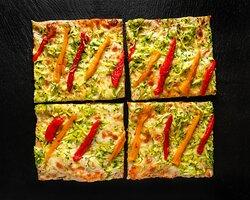 Pizza focaccia peperoni dolce