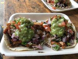 Delicious Chicken, Shrimp or Carnitas Tacos!