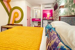 Our rooms come in pink or blue! Which is your favorite?