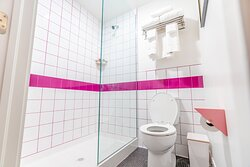 Got to love a colorful bathroom!