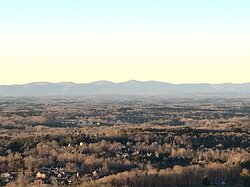 View of Spring Mt and Amicalola falls area.