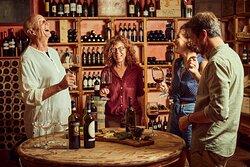 Enjoy a wine tasting at our cellar