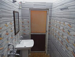 Attached Western Style Washrooms with running tap water