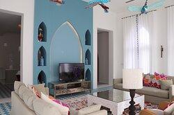 Living room in a Four-Bedroom Royal Gem.