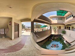 Hello and Namaste! Sunny bright morning and Panoramic view of Rukmavati Guest house. Radiant and beautiful rangoli has added more colours. We hearty welcome our guests to enjoy our serene and blissful atmosphere.