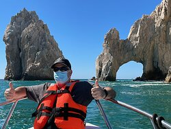 Two thumps up - Time with Karen at Adventures in Baja is the best!