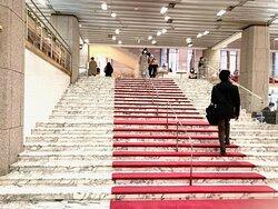 大階段も大理石です