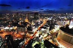 Night View from Swissotel Nankai Osaka