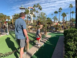 ONE of the mini golf courses