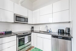 Full kitchen in each apartment