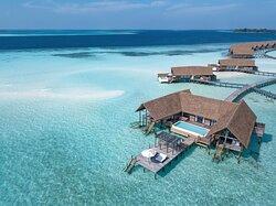 COMO Water Villa Aerial View