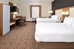 Two Queen Beds Guest Room features Flat Screen TV