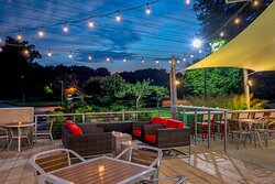 Enjoy a juicy burger and craft beer in our outdoor patio space