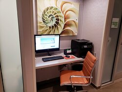 Quiet place to get work done or just print your travel documents.