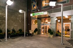 Hotel Entrance in the Evening- Holiday Inn Times Square