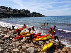Kayaking in the bay of Anse du Brick
